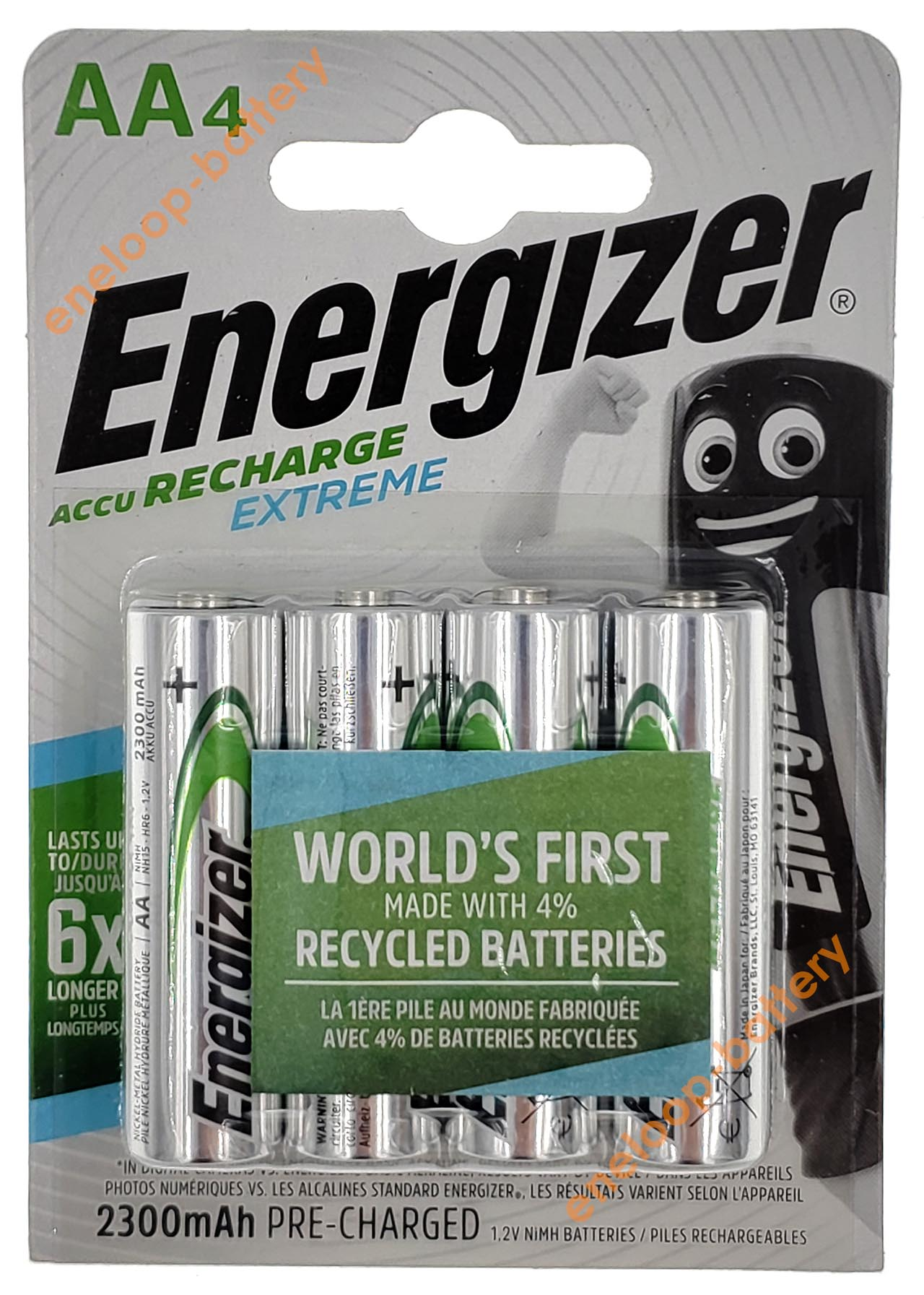 AA Energizer Extreme 2300 mah Pre-Charged 4BE