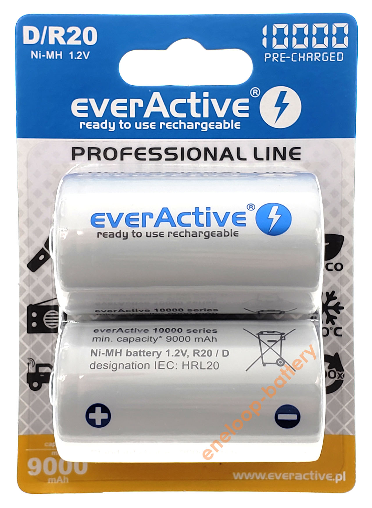 D R20 Everactive 10000 mah Ready to use